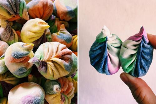 Фуд-тренд: кольорові пельмені дамплінги з соковитим фаршем